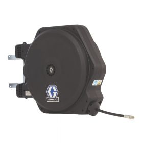 """Graco LD Series, Oil, 13mm (1/2"""") Inlet, 13mm X 11m (1/2"""" X 35') Hose, BSPP, Fixed Ceiling/Wall Mount, With Inlet Kit, White - 24Y205"""