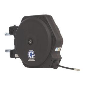 """Graco LD Series Enclosed Hose Reel with 13mm X 14m (1/2"""" x 45') BSPT Hose for Air/Water Applications - HEL34D"""